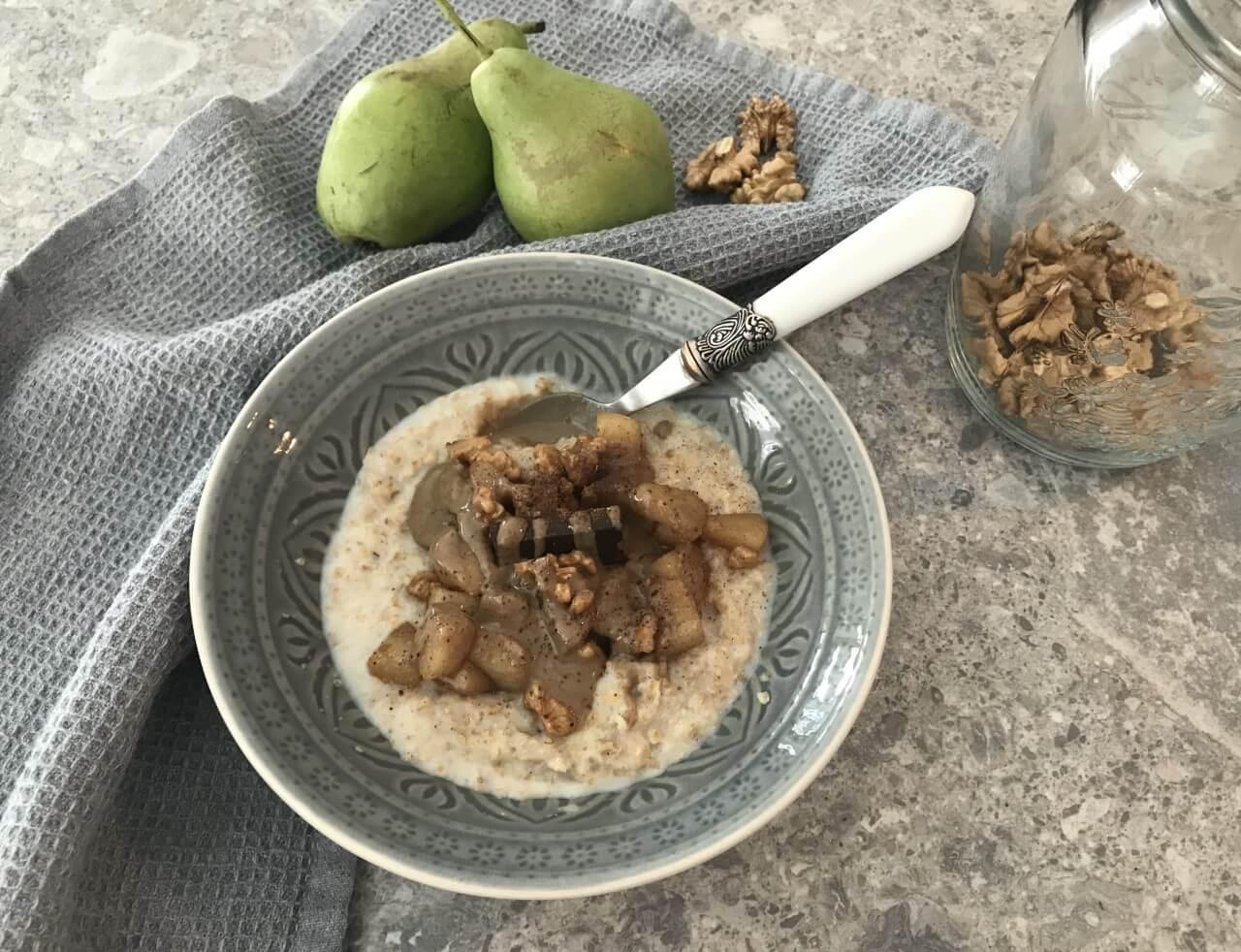 πρωινό με βρώμη και ταχίνι